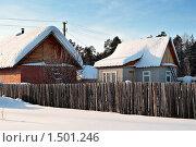 Купить «Дачный дома зимой. Тюменская область.», фото № 1501246, снято 22 февраля 2010 г. (c) Алексей Рогожа / Фотобанк Лори