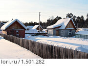 Купить «Дачный поселок зимой. Тюменская область.», фото № 1501282, снято 22 февраля 2010 г. (c) Алексей Рогожа / Фотобанк Лори