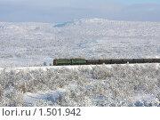 Купить «Железнодорожный состав», фото № 1501942, снято 21 февраля 2010 г. (c) Ямаш Андрей / Фотобанк Лори