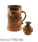 Пивная кружка и маленькая ваза. Стоковое фото, фотограф Stanislav Kharchevskyi / Фотобанк Лори