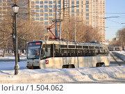 Купить «Трамвай в Останкино», эксклюзивное фото № 1504062, снято 12 января 2010 г. (c) Алёшина Оксана / Фотобанк Лори