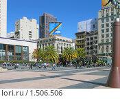 Купить «Площадь Юнион-сквер в Сан-Франциско», фото № 1506506, снято 5 февраля 2008 г. (c) Валентина Троль / Фотобанк Лори