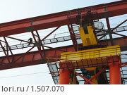 Строительство моста (2010 год). Редакционное фото, фотограф Александр Романов / Фотобанк Лори