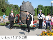 Купить «Ветераны из Чечни. г.Курск», фото № 1510558, снято 23 августа 2008 г. (c) Александр Леденев / Фотобанк Лори