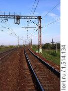 Купить «Железная дорога», фото № 1514134, снято 6 сентября 2009 г. (c) АЛЕКСАНДР МИХЕИЧЕВ / Фотобанк Лори
