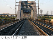 Железнодорожный мост. Стоковое фото, фотограф Вадим Морозов / Фотобанк Лори