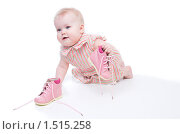 Купить «Маленькая девочка в розовом платье», фото № 1515258, снято 27 февраля 2010 г. (c) Иванова Виктория / Фотобанк Лори