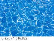 Фон из ярко-синей поверхности воды в бассейне. Стоковое фото, фотограф Сергей Данилов / Фотобанк Лори
