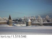 Мороз и солнце в Пскове (2010 год). Стоковое фото, фотограф Елена Мурашева / Фотобанк Лори