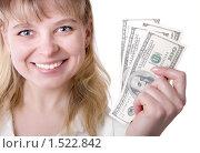 Девушка с деньгами. Стоковое фото, фотограф Анфимов Леонид / Фотобанк Лори