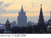 Купить «Москва, Кремль», эксклюзивное фото № 1528358, снято 31 января 2010 г. (c) Дмитрий Неумоин / Фотобанк Лори