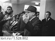 Купить «Диктор Юрий Левитан», фото № 1528802, снято 20 февраля 1980 г. (c) Федор Королевский / Фотобанк Лори
