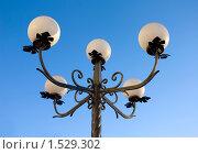 Уличный фонарь с пятью матовыми белыми плафонами. Стоковое фото, фотограф Олыкайнен Наталья / Фотобанк Лори