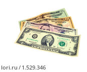 Купить «Доллары, мелкие купюры», фото № 1529346, снято 5 марта 2010 г. (c) SevenOne / Фотобанк Лори