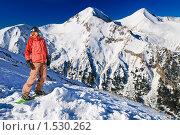 Купить «Сноубордист-фрирайдер на диком горном склоне», фото № 1530262, снято 20 января 2009 г. (c) Дмитрий Яковлев / Фотобанк Лори