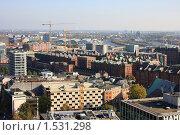 Купить «Гамбург с высоты птичьего полета», фото № 1531298, снято 20 октября 2009 г. (c) Ельчанинов Вячеслав / Фотобанк Лори