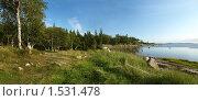 Купить «Соловецкие берега. Панорама.», фото № 1531478, снято 30 марта 2020 г. (c) Самойлова Екатерина / Фотобанк Лори