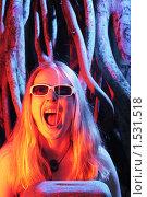 Купить «Девушка кричит», фото № 1531518, снято 17 апреля 2008 г. (c) Константин Сутягин / Фотобанк Лори