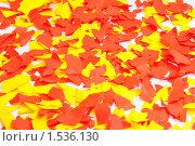 Купить «Фон из обрывков бумаги», эксклюзивное фото № 1536130, снято 8 марта 2010 г. (c) Вячеслав Палес / Фотобанк Лори
