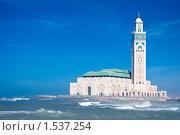 Купить «Мечеть Hassan II», фото № 1537254, снято 13 сентября 2008 г. (c) Станислав Парамонов / Фотобанк Лори