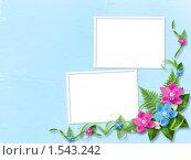 Рамки с цветами. Стоковая иллюстрация, иллюстратор Lora Liu / Фотобанк Лори