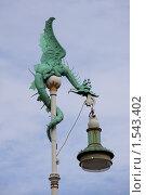 Купить «Уличный фонарь в виде дракона», фото № 1543402, снято 1 августа 2009 г. (c) Маргарита Герм / Фотобанк Лори