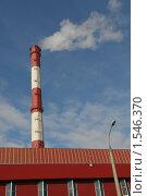 Купить «Дымная труба», фото № 1546370, снято 11 марта 2007 г. (c) Николай Богоявленский / Фотобанк Лори