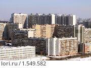 Купить «Москва. Вид на спальный район с высоты», фото № 1549582, снято 13 марта 2010 г. (c) Ярослав Каминский / Фотобанк Лори