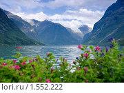 Купить «Живописное горное озеро», фото № 1552222, снято 18 августа 2009 г. (c) Виталий Романович / Фотобанк Лори