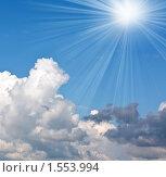 Купить «Облака и солнце», фото № 1553994, снято 31 июля 2009 г. (c) ElenArt / Фотобанк Лори