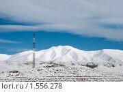Телефонная вышка высоко в горах. Стоковое фото, фотограф Елена Галачьянц / Фотобанк Лори