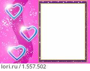 Рамка с сердечками. Стоковая иллюстрация, иллюстратор Екатерина Новикова / Фотобанк Лори