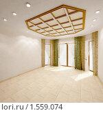 Купить «Интерьер пустой гостиной», иллюстрация № 1559074 (c) Юрий Бельмесов / Фотобанк Лори
