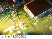Купить «Микросхема, крупный план», фото № 1566826, снято 10 октября 2008 г. (c) Константин Сутягин / Фотобанк Лори