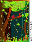 Джунгли. Стоковая иллюстрация, иллюстратор Светлана Арешкина / Фотобанк Лори