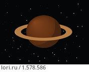 Сатурн. Стоковая иллюстрация, иллюстратор Сергей Панкратов / Фотобанк Лори