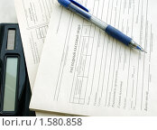 Купить «Приходный и расходный ордер, ручка», фото № 1580858, снято 17 марта 2010 г. (c) Корчагина Полина / Фотобанк Лори
