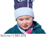 Ребенок плачет,изолировано. Стоковое фото, фотограф Константин Бабенко / Фотобанк Лори