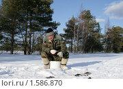 Зимняя рыбалка. Стоковое фото, фотограф Сергей Прокопьев / Фотобанк Лори