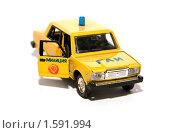 Купить «Масштабная модель автомобиля ВАЗ 2107, ГАИ», фото № 1591994, снято 30 марта 2010 г. (c) Момотюк Сергей / Фотобанк Лори