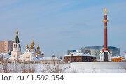 Купить «Якутск. Вид на старый город зимой», фото № 1592954, снято 14 марта 2010 г. (c) Юрий Бульший / Фотобанк Лори