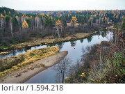Купить «Река Серга», фото № 1594218, снято 17 октября 2009 г. (c) Андрей Казаков / Фотобанк Лори