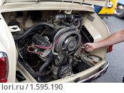 Купить «Ретро-двигатель», фото № 1595190, снято 16 августа 2008 г. (c) Дмитрий Ковязин / Фотобанк Лори
