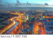 Купить «Вид в сторону центра со стороны СВАО (Москва)», фото № 1597150, снято 24 марта 2010 г. (c) Kremchik / Фотобанк Лори