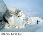 Большие льдины. Озеро Байкал. Стоковое фото, фотограф Дмитрий Батталов / Фотобанк Лори