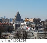 Купить «Вид на город с Патриаршего моста. Москва», фото № 1604726, снято 3 апреля 2010 г. (c) Екатерина Овсянникова / Фотобанк Лори