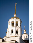 Купить «Купола Свято-Троицкого храма в городе Иркутске», фото № 1606206, снято 4 апреля 2010 г. (c) Момотюк Сергей / Фотобанк Лори
