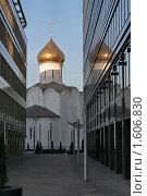 Купить «Церковь святого Николая Чудотворца около Белорусского вокзала.Москва», фото № 1606830, снято 3 апреля 2010 г. (c) Николай Богоявленский / Фотобанк Лори