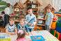 Дети  играют в веселые числа, фото № 1612246, снято 7 апреля 2010 г. (c) Федор Королевский / Фотобанк Лори