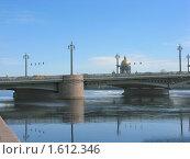 Купить «Благовещенский мост на Неве», фото № 1612346, снято 4 апреля 2009 г. (c) Валентина Троль / Фотобанк Лори